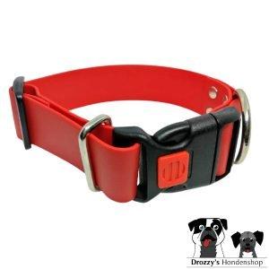 Brede rode klikhalsband